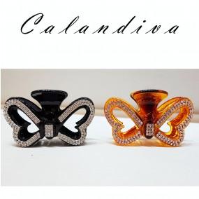 매력있는 나비 큐빅 올림머리 집게핀