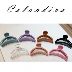 심플하고 예쁜 옷걸이 디자인 올림머리 집게핀 7종 색상
