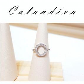 매력있는 써클 큐빅 프리사이즈 반지